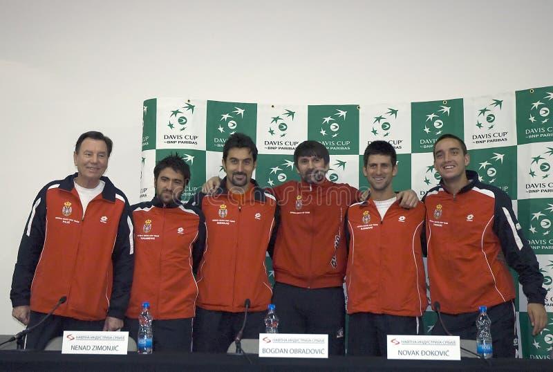 Serbian Davis Cup team stock photo