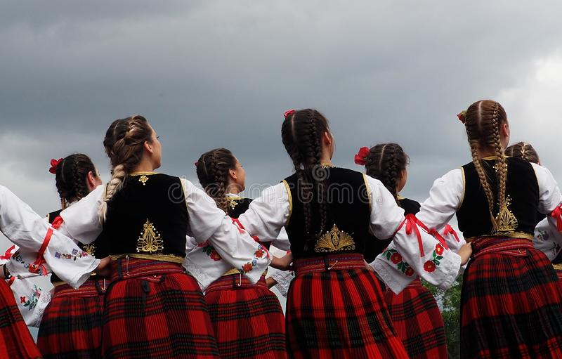 Serbian Folk Dancers At Edmonton`s Heritage Days royalty free stock photo