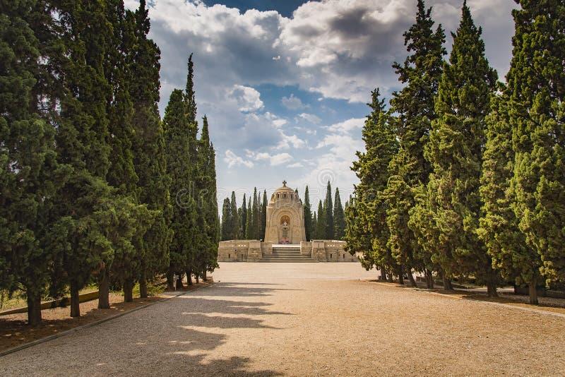 Serbian Mausoleum in military cemetery Thessaloniki, Greece stock photo