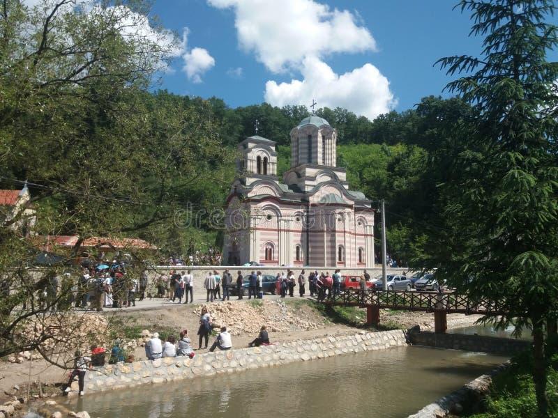Serbian Monastery Tumane in Homolje stock photo