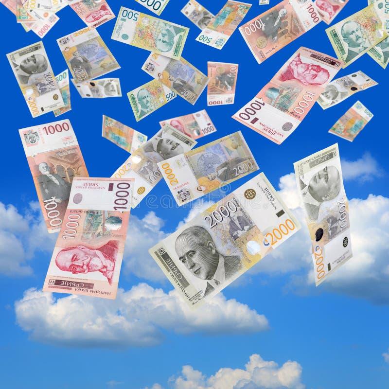 Serbian money rain stock photo. Image of blue, cash, cloud ...