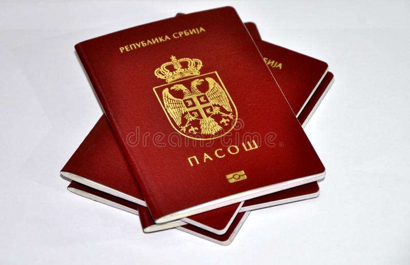 Serbian new passport. Image of a new Serbian passport stock image