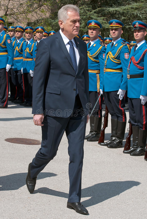 Serbian President Tomislav Nikolic royalty free stock photos