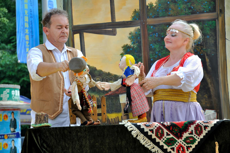 Serbian Puppet Show royalty free stock photography