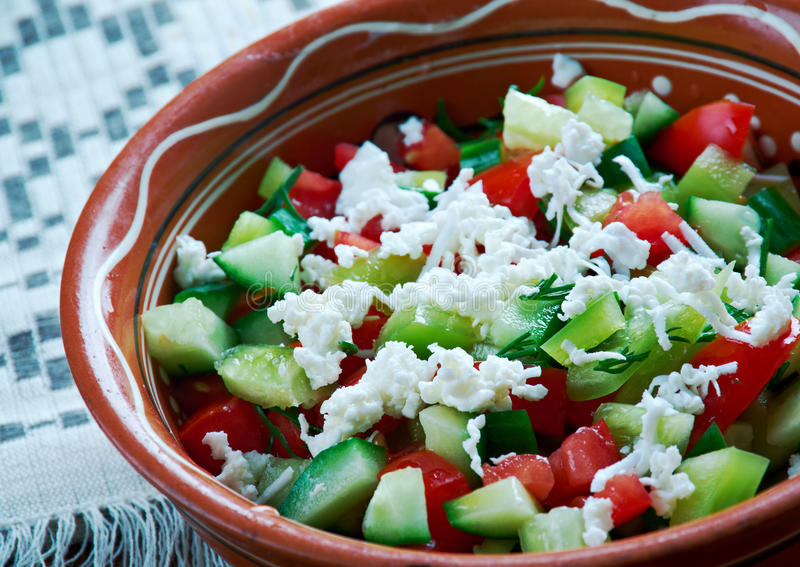 Serbian Salad royalty free stock photos