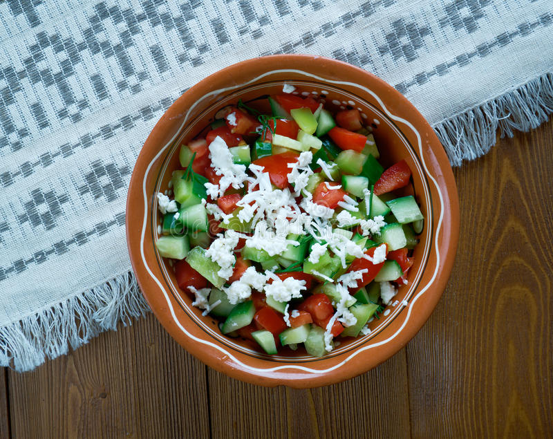 Serbian Salad royalty free stock image