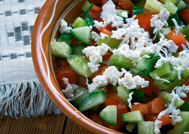 Serbian Salad stock photography