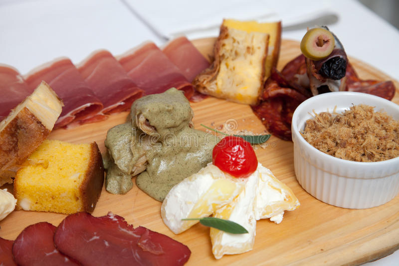 Serbian traditional appetizer royalty free stock photo