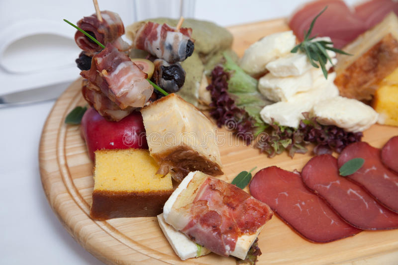 Serbian traditional appetizer stock photo