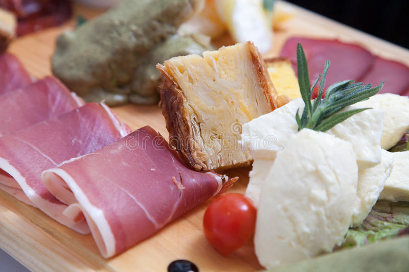 Serbian traditional appetizer royalty free stock image