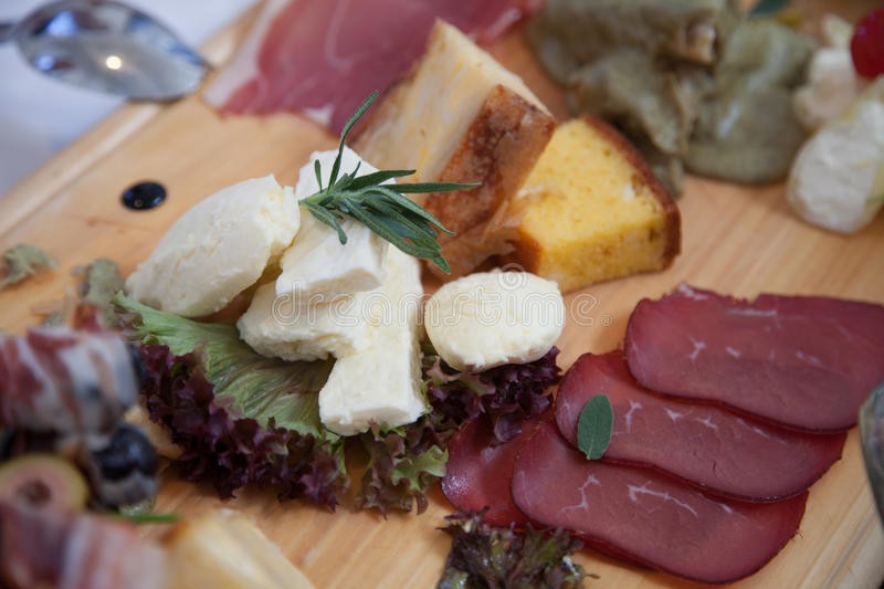 Serbian traditional appetizer stock images