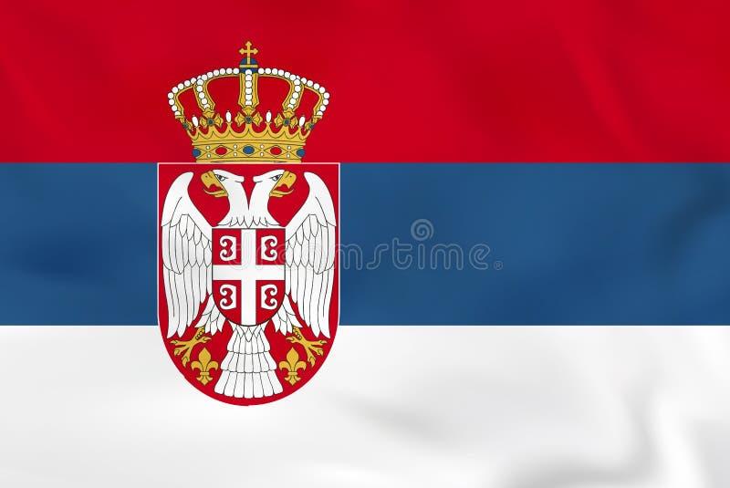 Serbien vinkande flagga Textur för Serbien nationsflaggabakgrund vektor illustrationer