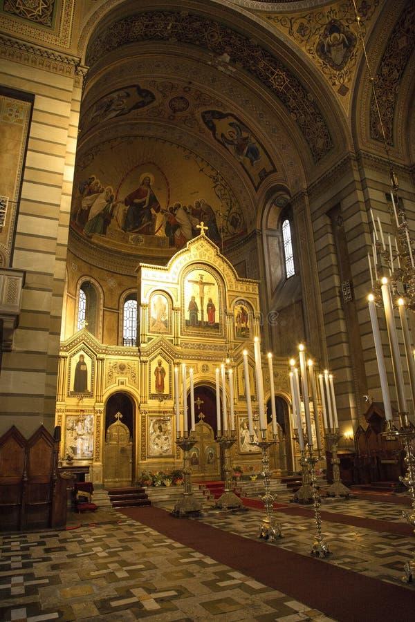 Serbische orthodoxe Kirche in Triest lizenzfreies stockfoto