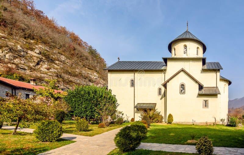Serbisches orthodoxes Kloster Moraca, Kolasin, Montenegro stockbild