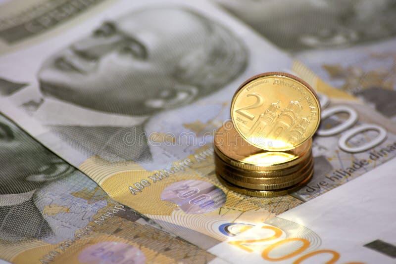 serbiska dinars royaltyfria foton