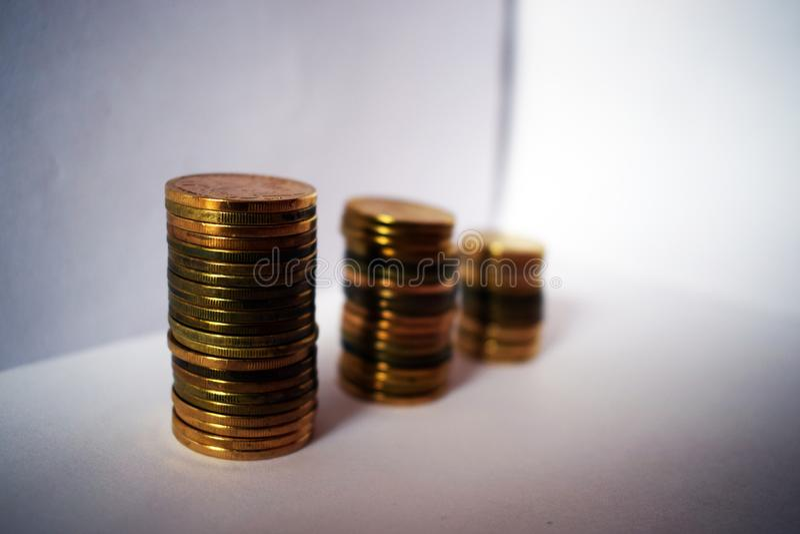 Serbiska mynt - dinar fotografering för bildbyråer