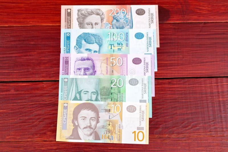 Serbiska pengar fotografering för bildbyråer