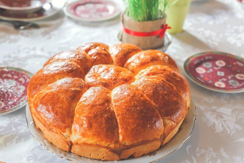 Serbiskt vete för jul bröd och jul royaltyfri fotografi
