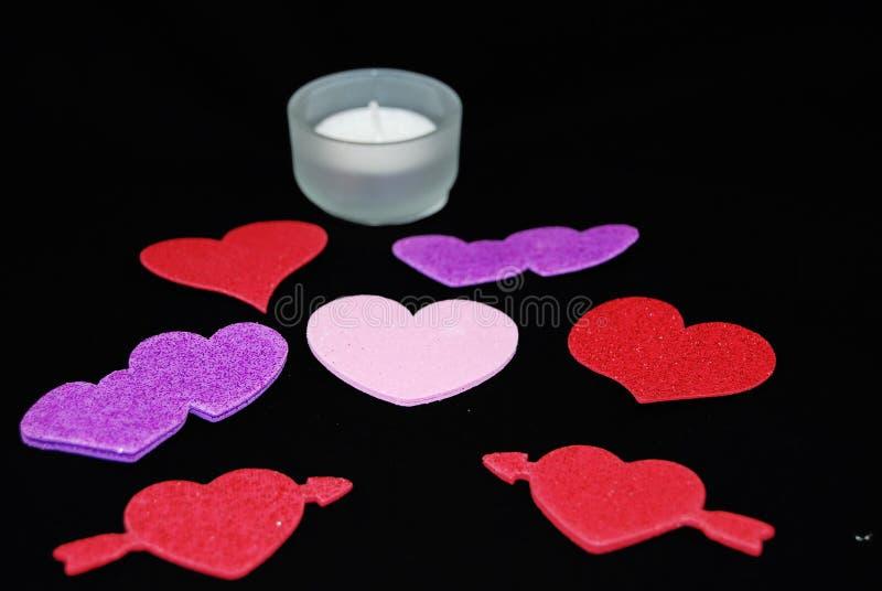 serc kolorowi valentines obraz stock