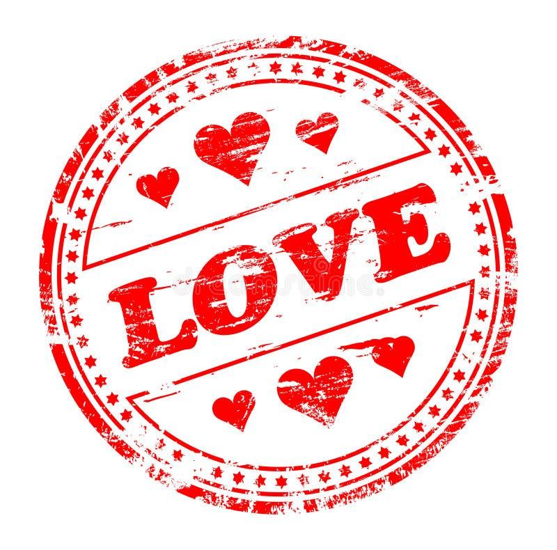 serc miłości pieczątka ilustracja wektor