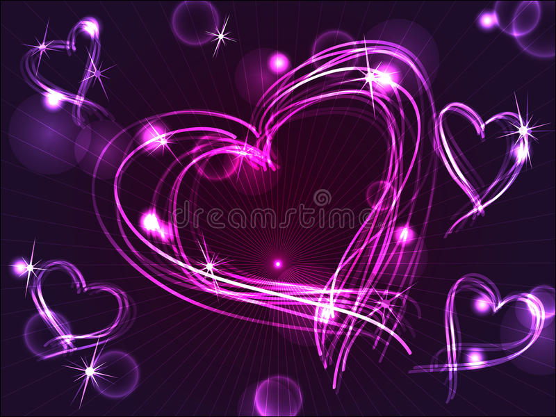 serc neonowe osocza purpury ilustracji