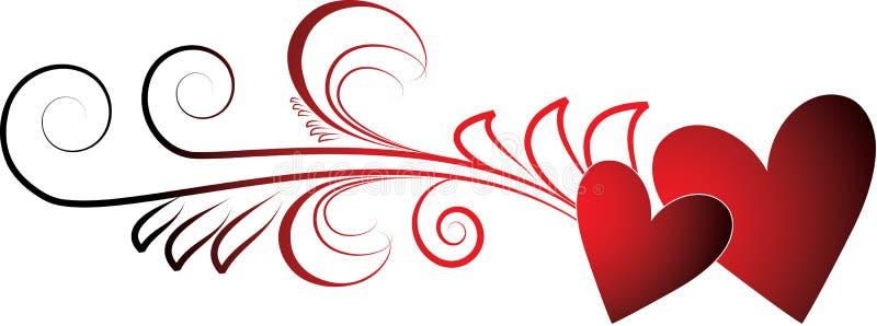 serc valentines ilustracji