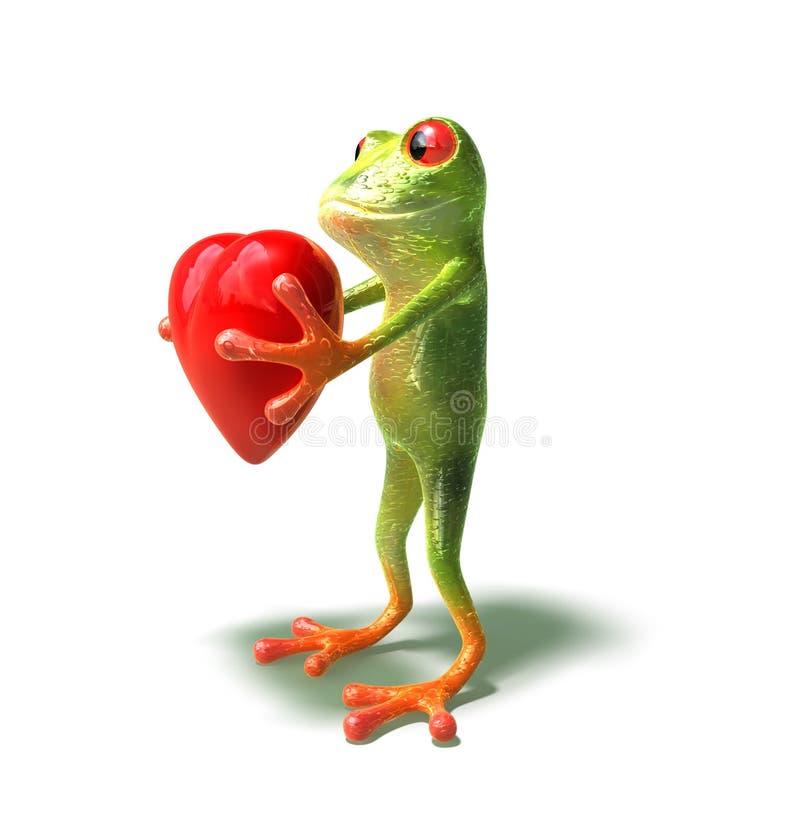 serca żaby ilustracja wektor