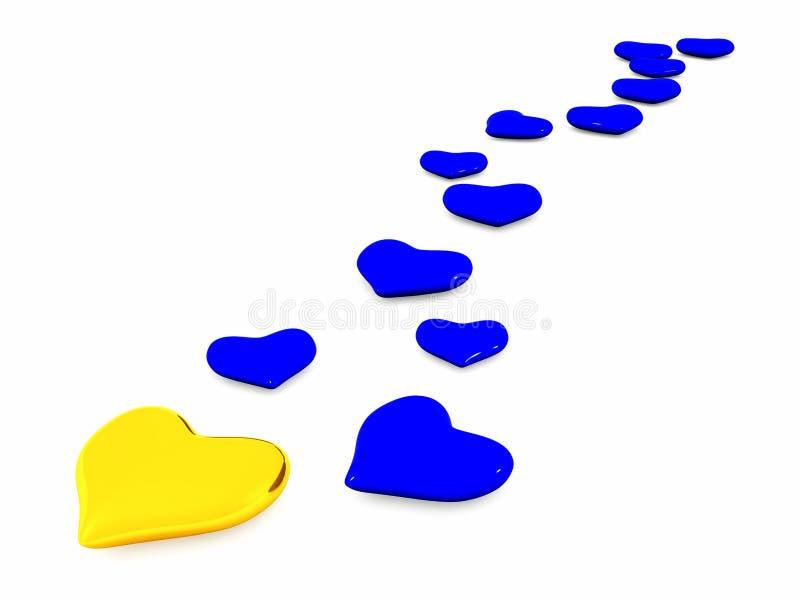 Download Serca ilustracji. Ilustracja złożonej z romans, valentine - 13329555