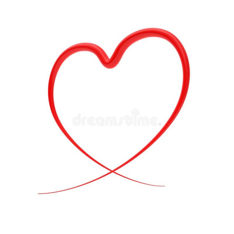 serca abstrakcyjna czerwony royalty ilustracja
