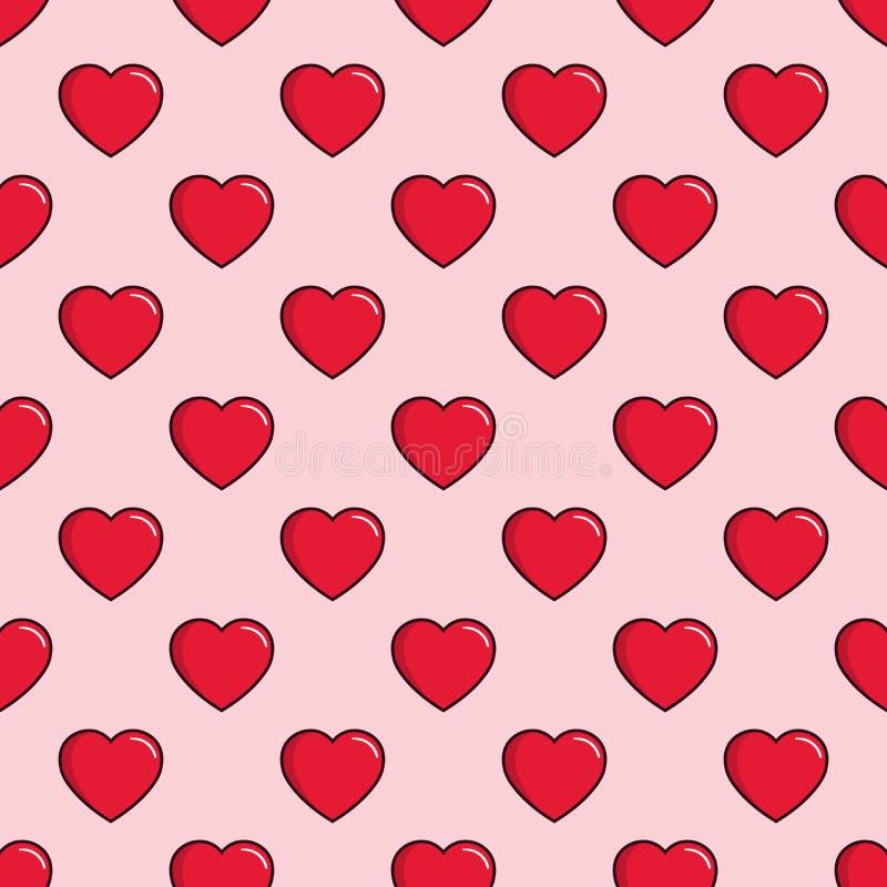 Serca bezszwowy deseniowy tło, może używać dla świętowań, ślubnego zaproszenia, matka dnia i valentines dnia, ilustracji