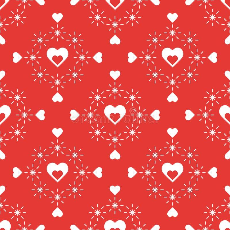 serca deseniują bezszwowego kredek dzień kobiety cztery ręk serc s valentine ilustracji
