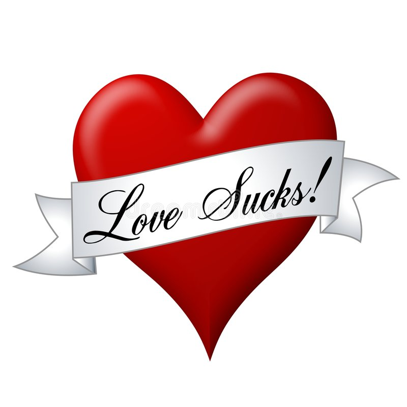 serca do miłości banner royalty ilustracja