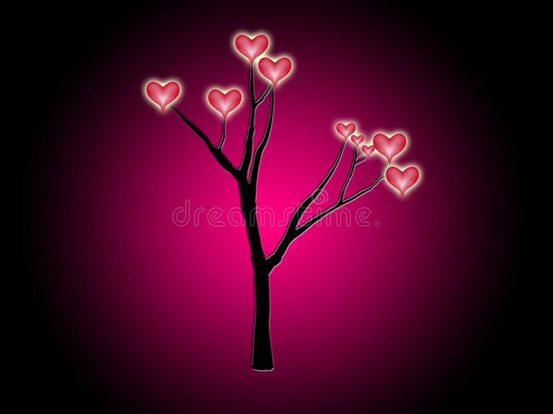 Serca Drzewni Obrazy Royalty Free