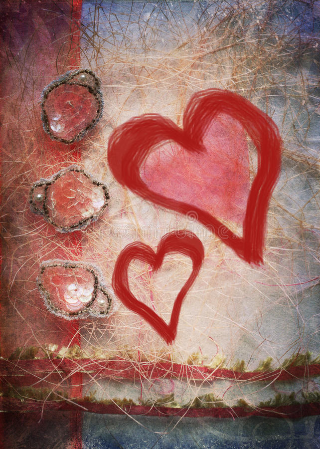 serca dwa obrazy stock