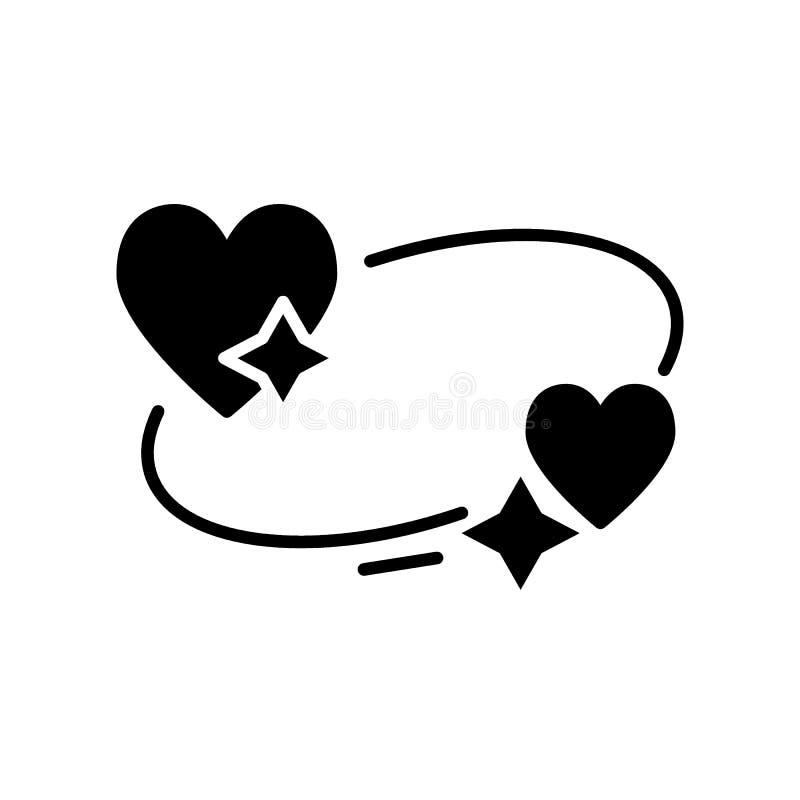 Serca i gwiazdy ikona Sen marzy symbol Noc mi?o?? czasu znak Cienka wektorowa ikona odizolowywaj?ca na bielu Sta?y projekt ilustracja wektor