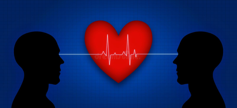Serce i umysł royalty ilustracja