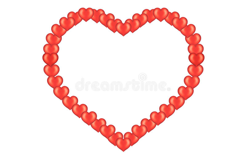 serca karciany valentine s ilustracji