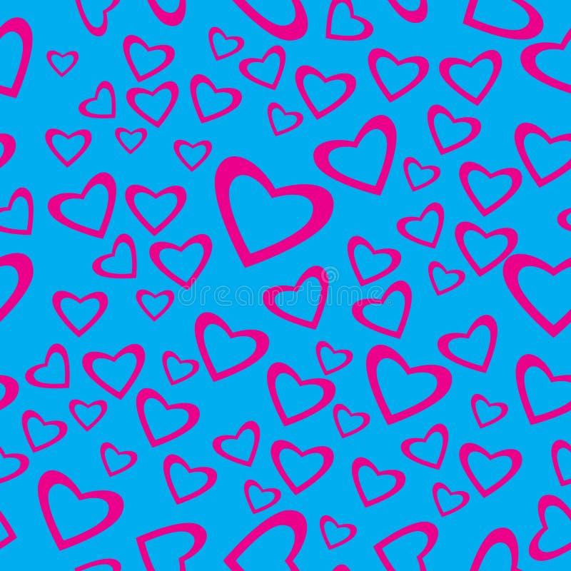 serca kształtny deseniowy bezszwowy royalty ilustracja
