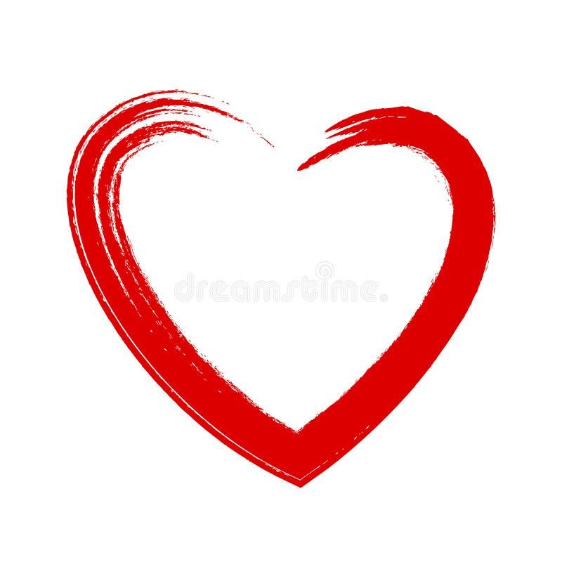 serca odosobniony symbolu biel ilustracji