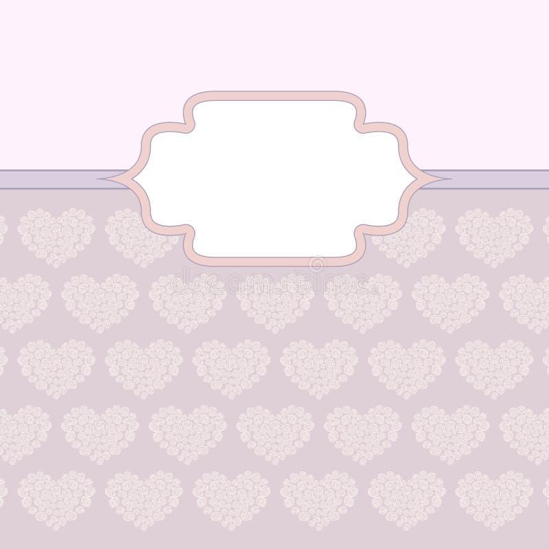 Serca robić róży valentine karta ilustracja wektor