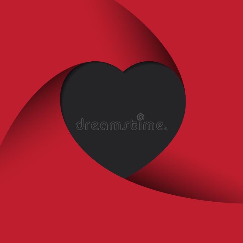 serca tła czerwone ilustracja wektor