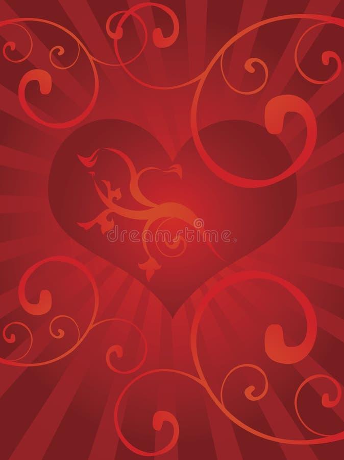 serca tła miłości royalty ilustracja