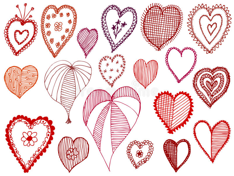serca ustawiają royalty ilustracja