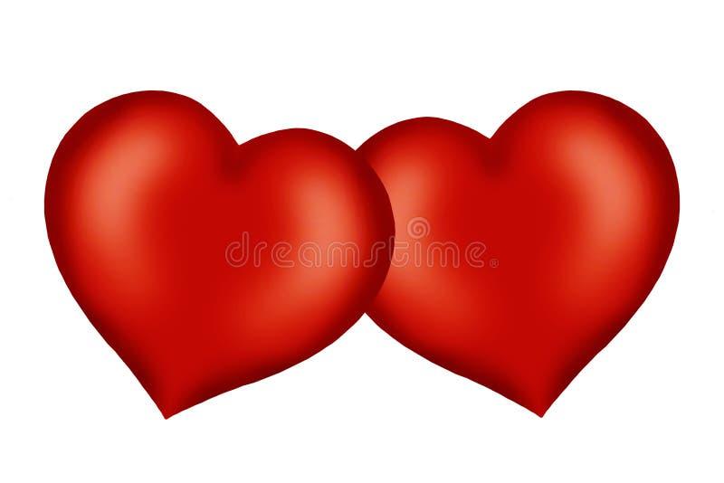 serca valentine s ilustracji