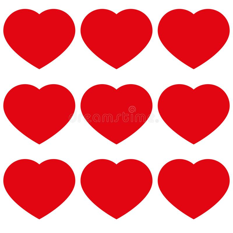 Serca z miłości ikoną ilustracja wektor