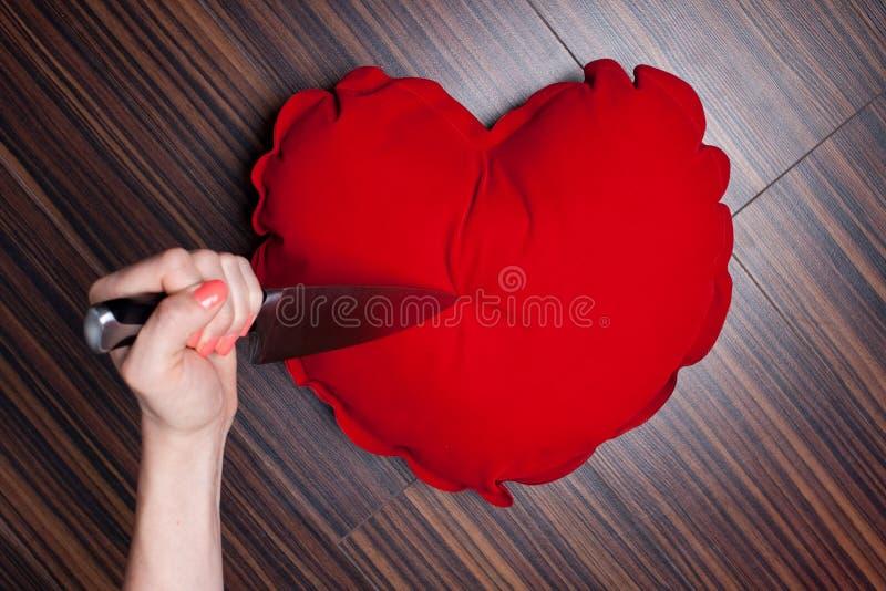 Serce łamający zdjęcia stock