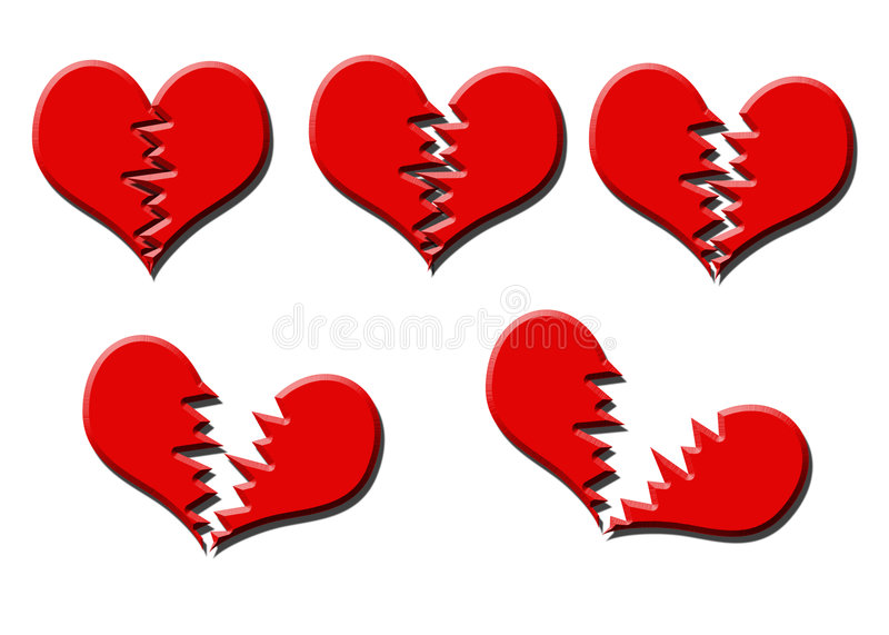 serce łamania ilustracja wektor
