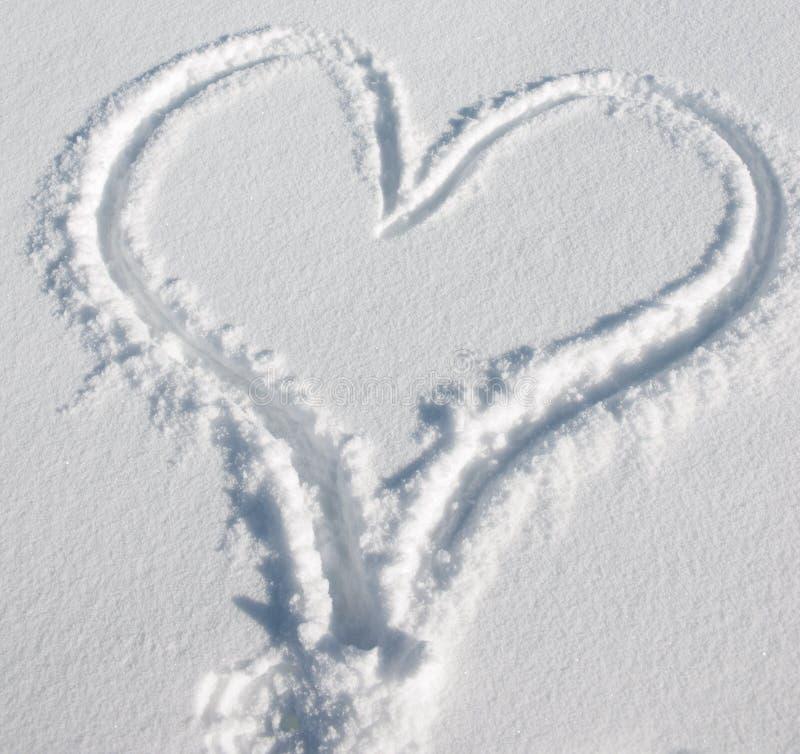 serce śnieg zdjęcie royalty free