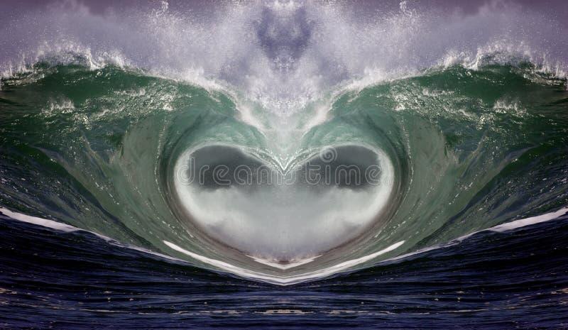 serce 1 fale zdjęcia royalty free