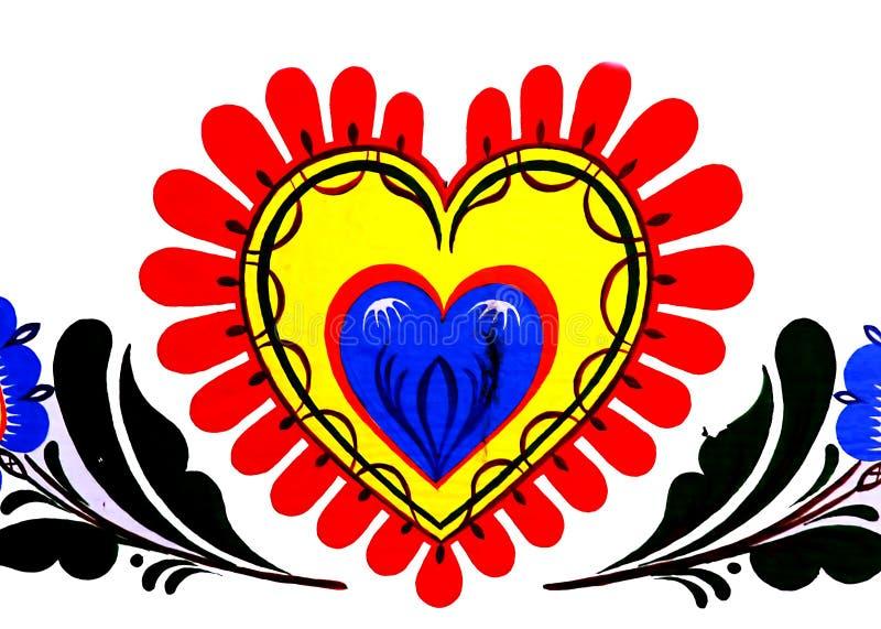 Download Serce ilustracji. Ilustracja złożonej z farba, wyznaczający - 129351